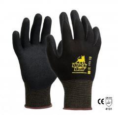 Black Bull Sandy Nitrile Dip Gloves