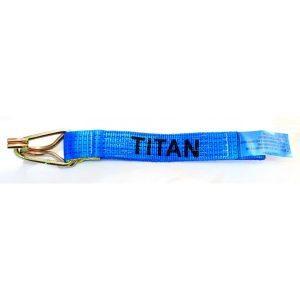 * 0.4m Blue Webbing Strap c/w HK/KPR * Inner Eye Hook & Keeper Protection