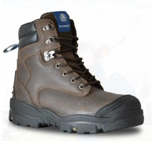 Bata Helix Longreach Brown Lace Up Safety Boot